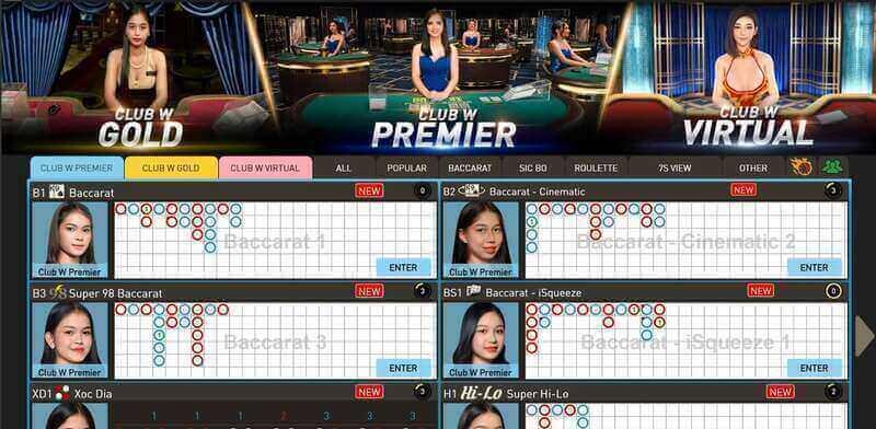 W88 Club VIP Casino Experience - Club W