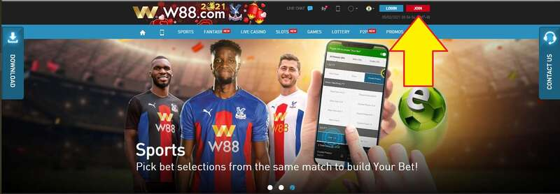 How to Register W88 Follow Below Steps - Join Button