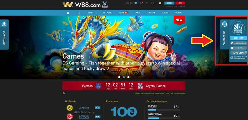 How to Access W88 Live Chat