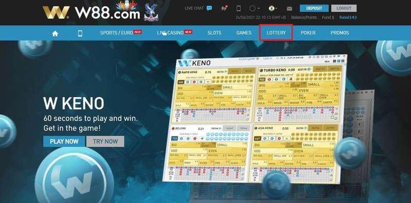 How to Play Keno in W88 - Easy Access