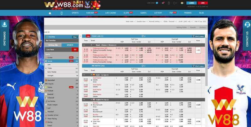 W88 Football and More Sports Betting Games to Play in W88 India