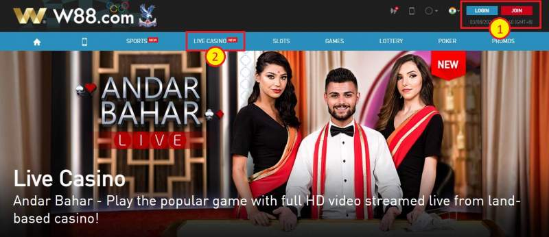 Roulette W88 and The W88 Club - Access Live Casino